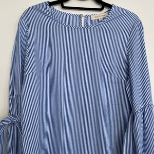 Solitaire Striped Bell Sleeve Blouse